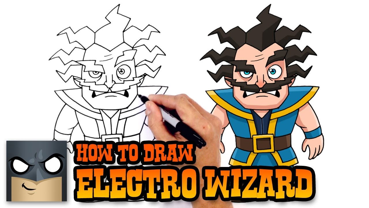 1280x720 How To Draw Electro Wizard Clash Royale