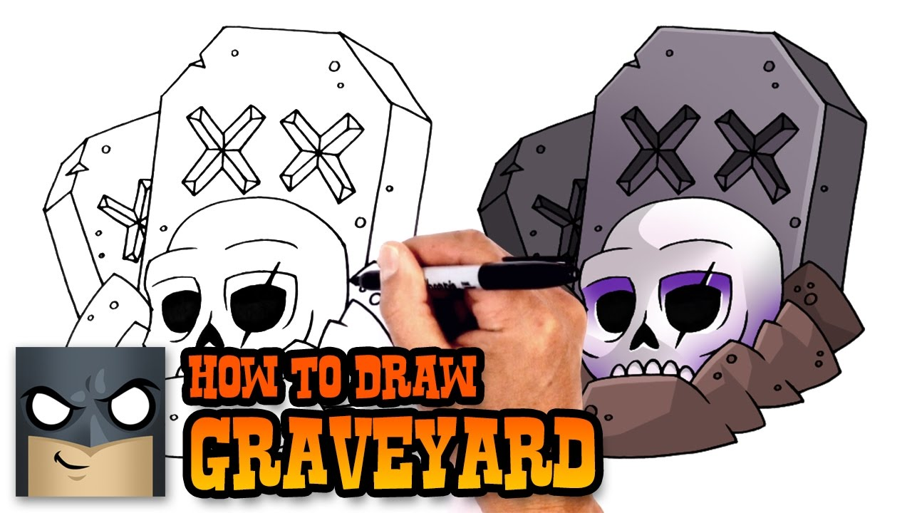 1280x720 How To Draw Graveyard Clash Royale