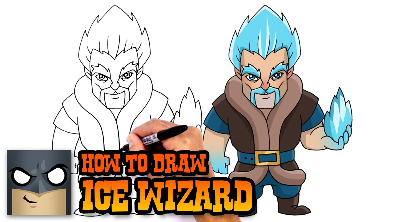 1280x720 How To Draw Ice Wizard Clash Royale