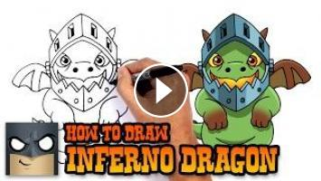 355x200 How To Draw Inferno Dragon Clash Royale