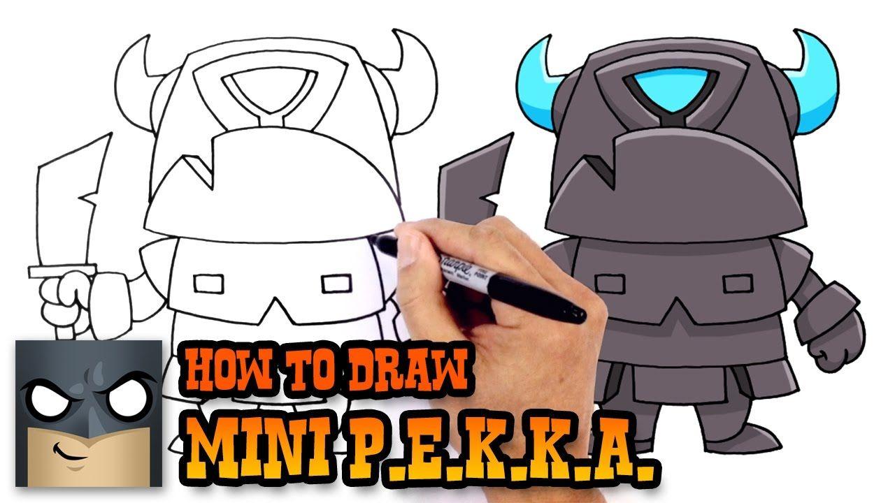 1280x720 How To Draw Mini P.e.k.k.a. (Clash Royale) How To Draw Cartoons
