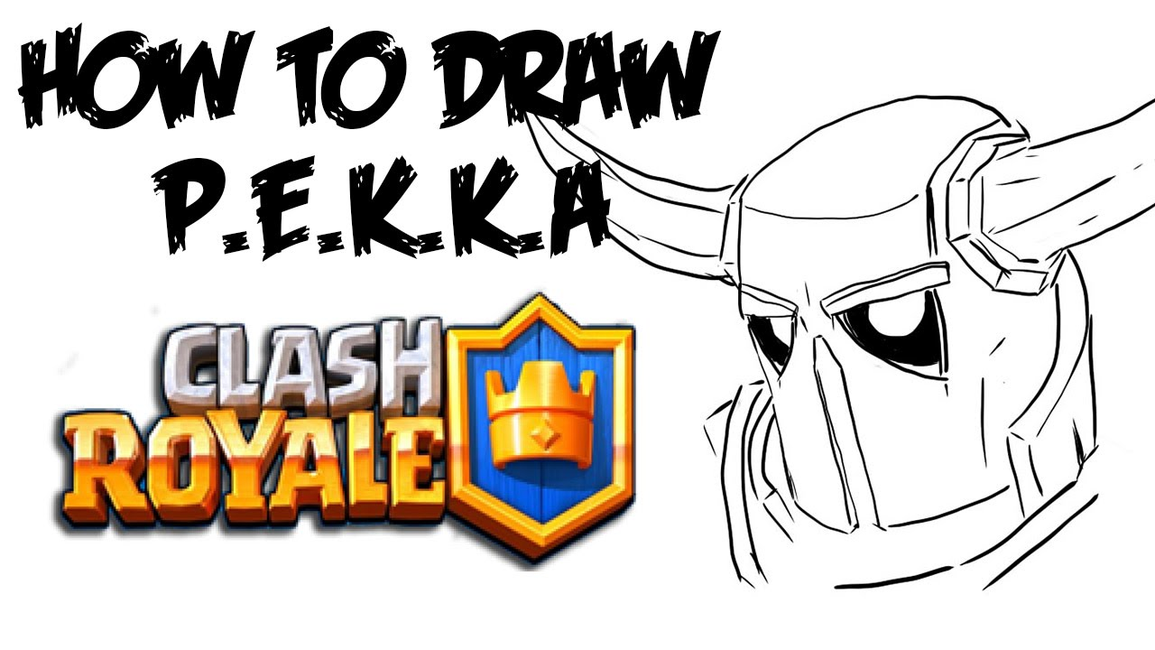 1280x720 How To Draw P.e.k.k.a (Clash Royale)