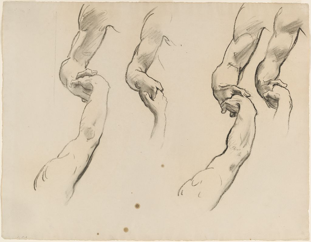 1024x797 Sargent. Study Of Clasped Hands, For Heaven, Boston Public