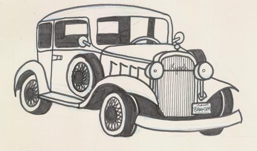 Classic Cars Drawing at GetDrawings.com | Free for personal use ...