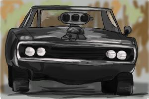 300x200 How To Draw Muscle Cars