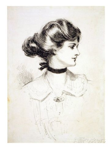 366x488 1909 Drawing By Charles Dana Gibson, A Daughter Of The South