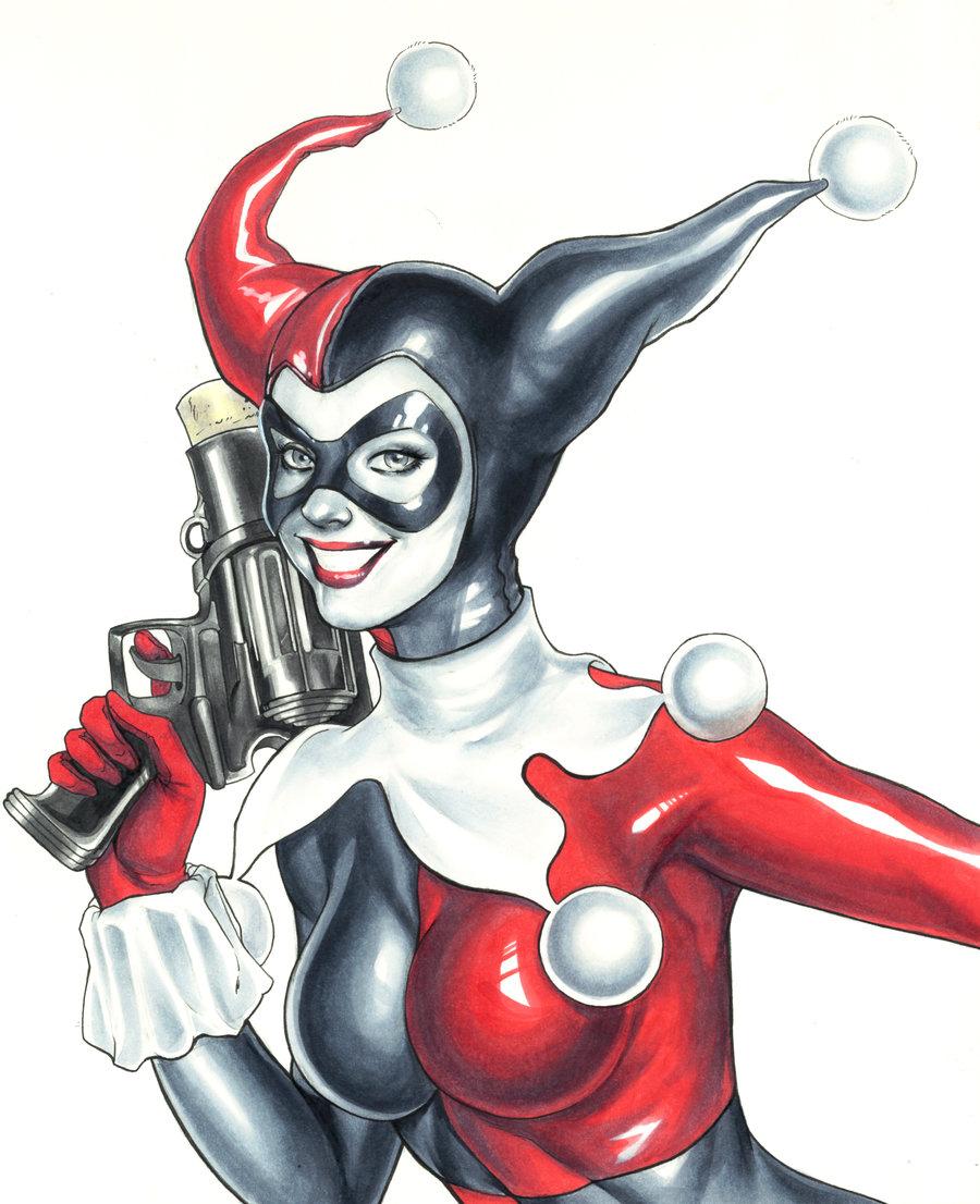 900x1106 Classic Harley Quinn By Weijic