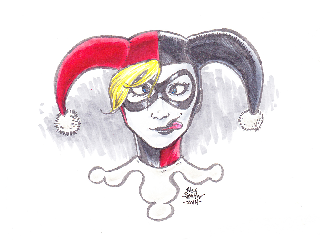 1024x770 Harley Quinn Drawing Color