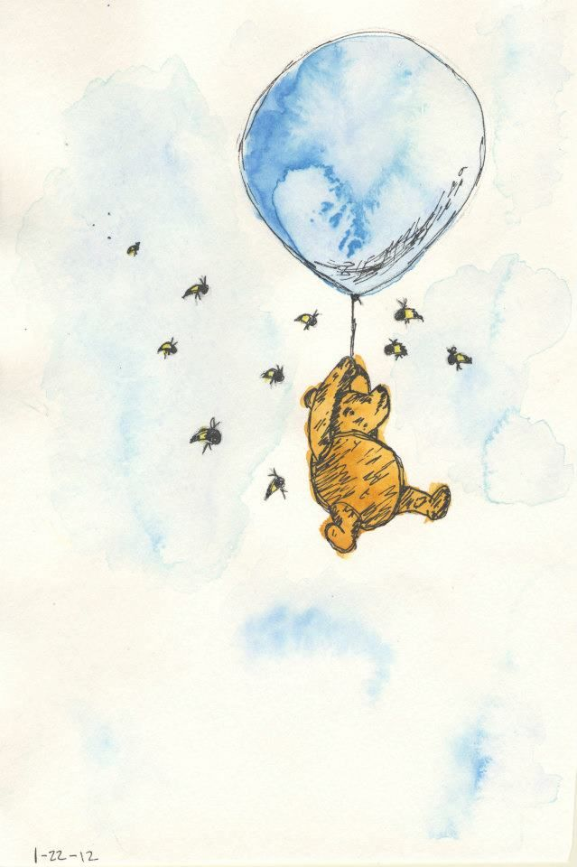 639x960 This Is Watercolor Artwork That I Did Of Winnie The Pooh (The Old