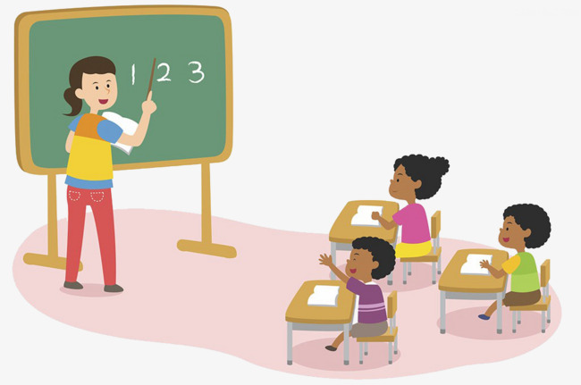 650x431 Have Math Class, Cartoon Hand Drawing, Study, Classroom Png Image