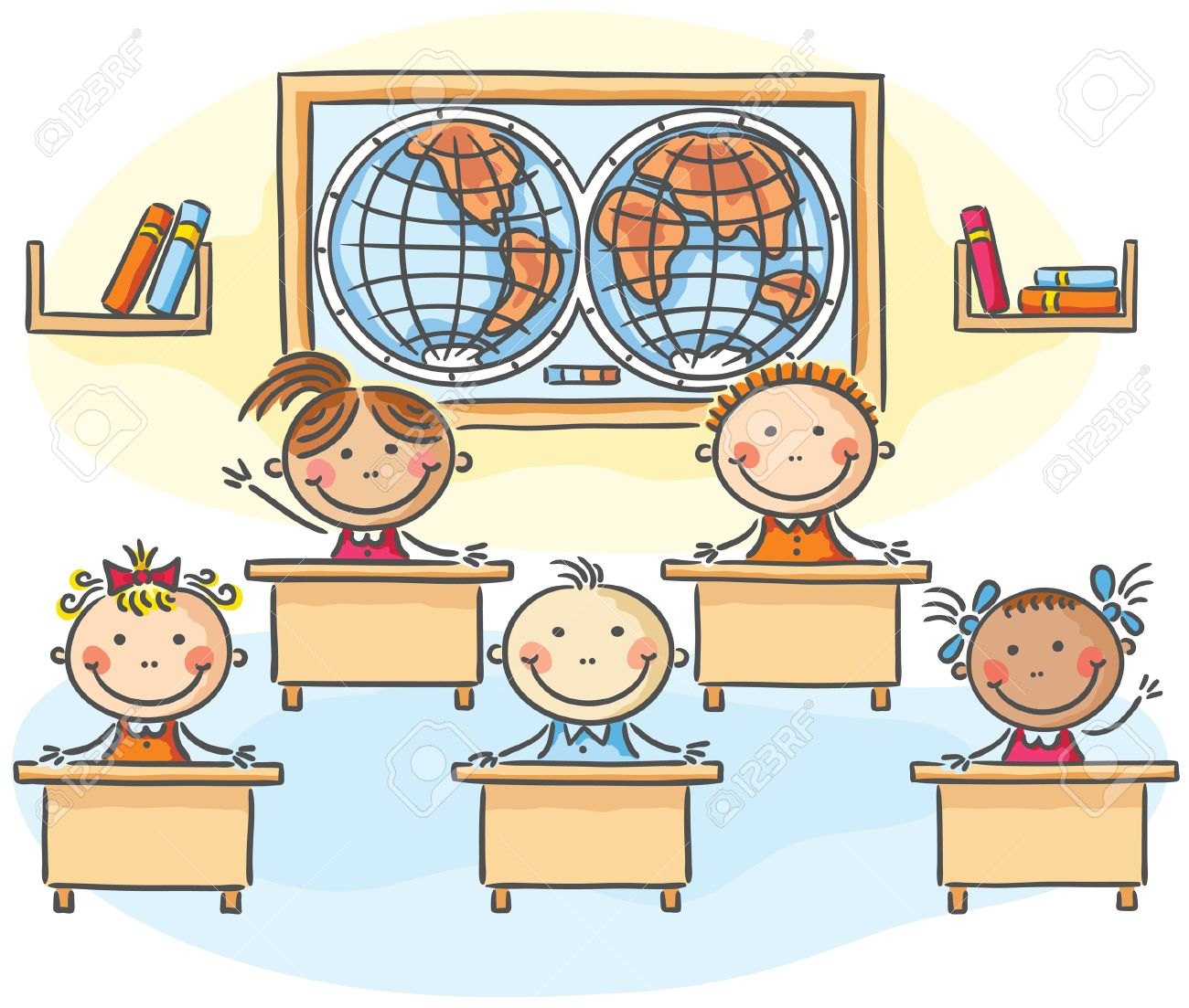 1300x1103 Pictures Classroom Drawing For Kids,