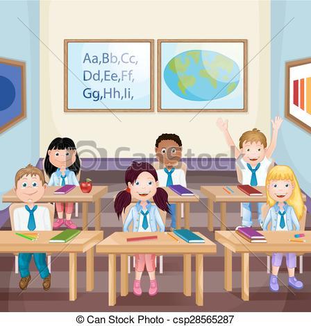 448x470 School Children In Classroom