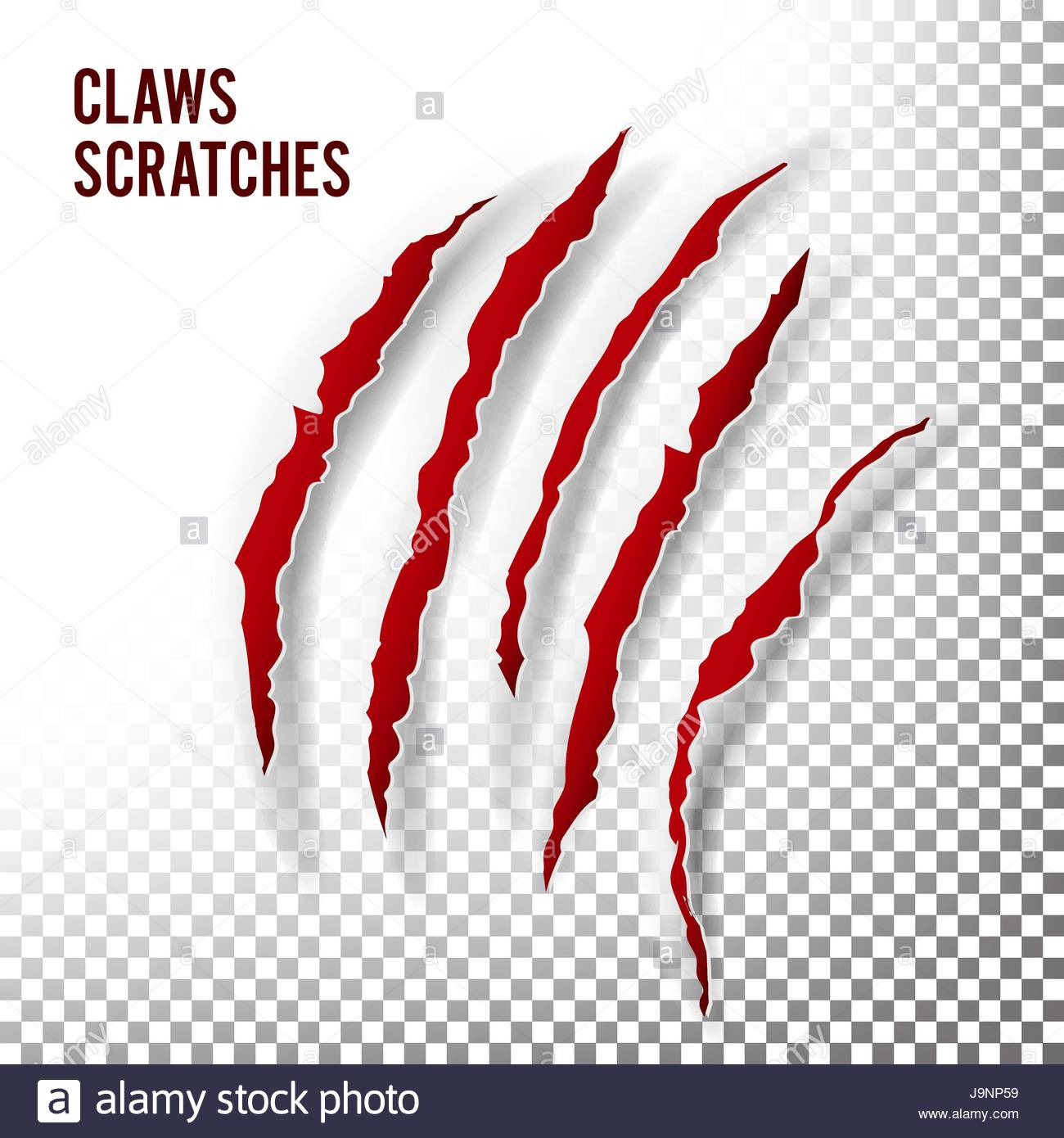 1300x1390 Claws Scratches Vector. Claw Scratch Mark. Bear Or Tiger Paw Claw