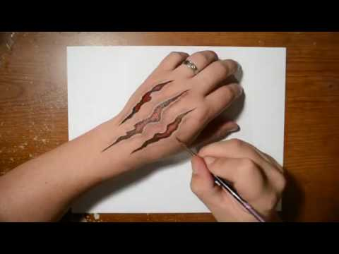 480x360 How To Draw Claw Marks In Skin Cool Trick Art