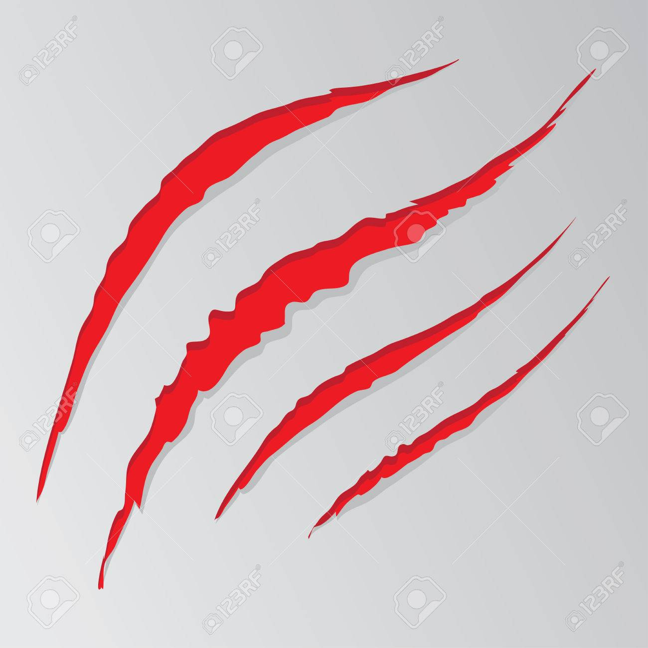 1300x1300 Cat Claw Scratches Marks Set On White Background. Royalty Free