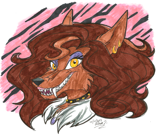 600x517 Clawdeen Wolf By Stray Sketches
