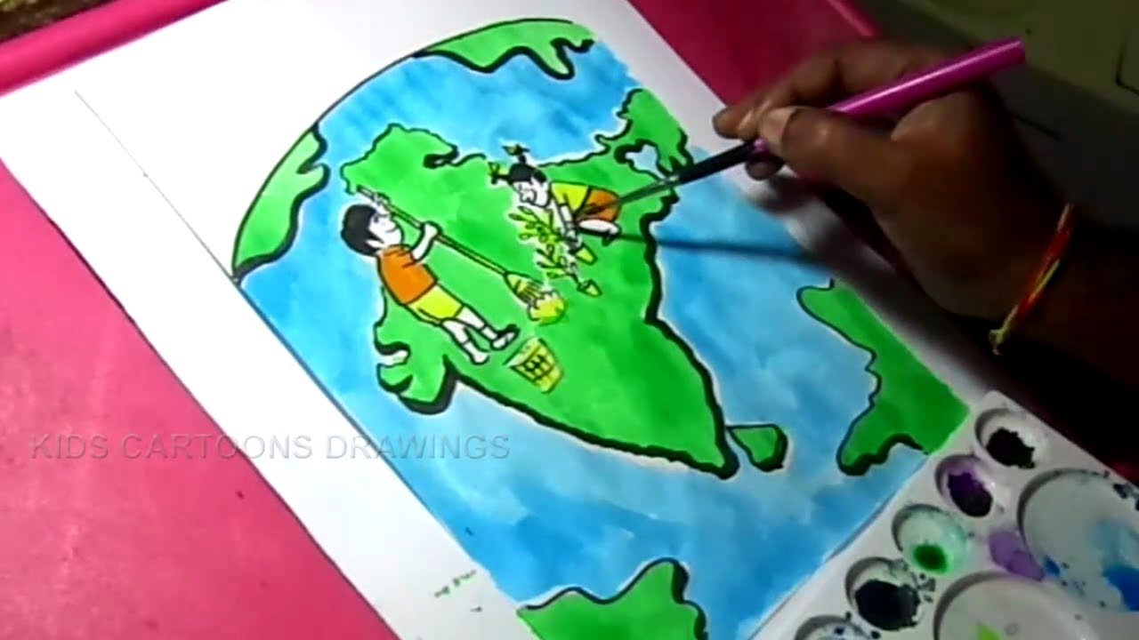 1280x720 How To Draw Clean India, Green India Poster Color Drawing For Kids