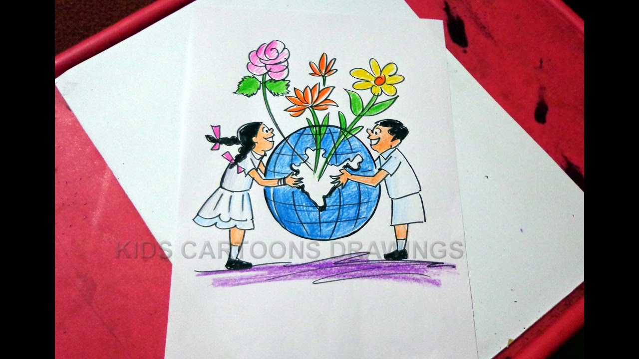 1280x720 How To Draw Clean India Green India Drawing For Kids Step By Step