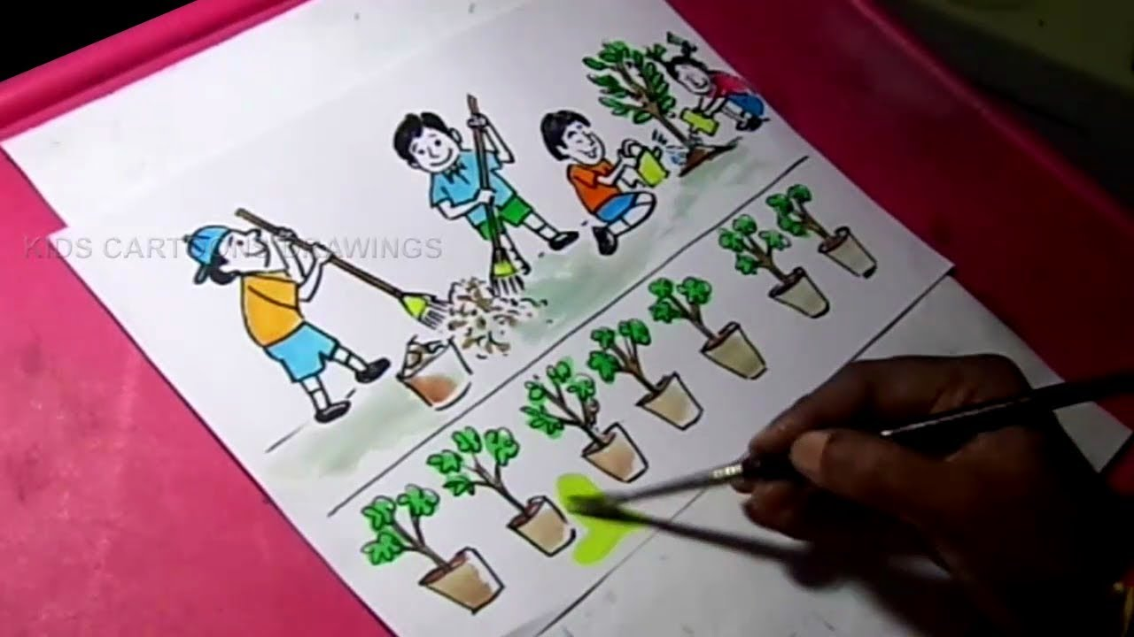 1280x720 How To Draw Clean India Green India Drawing For Kids