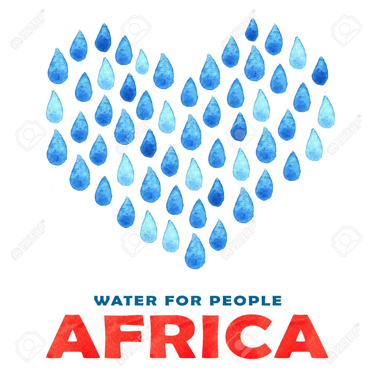 1300x1300 Charity Water Poster. Social Illustration About Problems Africa
