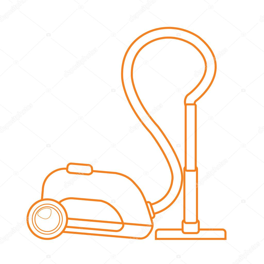 1024x1024 Vacuum Cleaner Icon Outline Drawing, Electric Home Appliances
