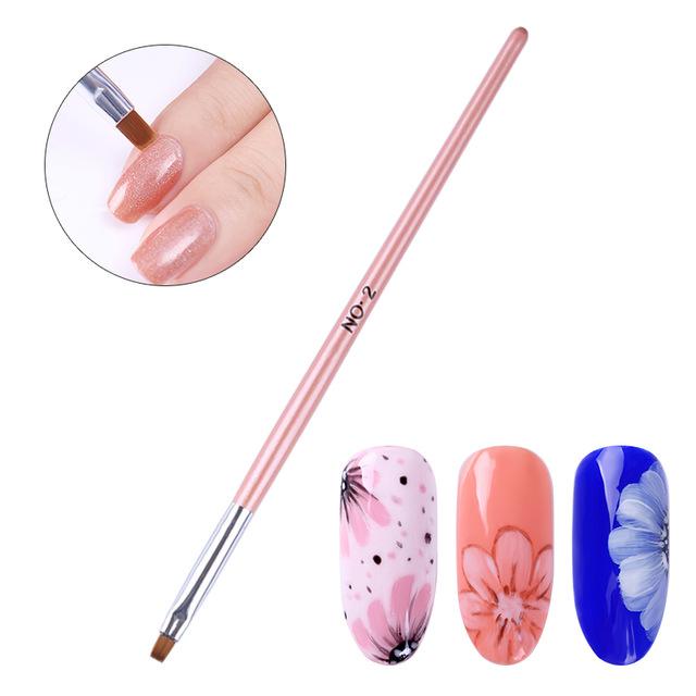 640x640 Drawing Flat Nail Brush Glitter Powder Dust Clean Pen Nail Edge