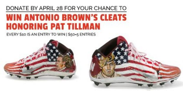 620x310 Drawing For Antonio Brown Worn Pat Tillman Cleats Will Benefit Charity