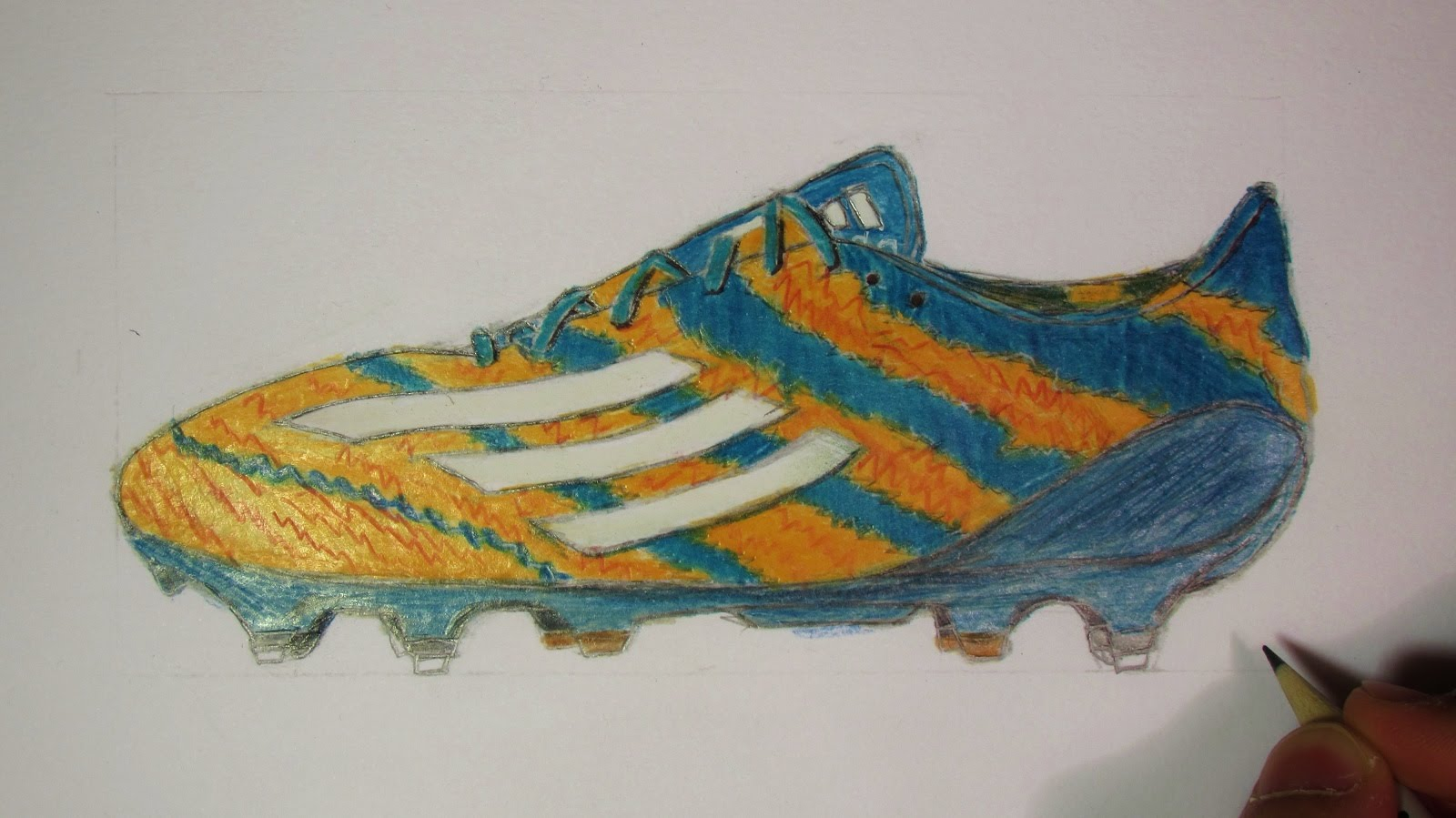 1600x899 Realistic Soccer Cleats Messi's Mirosar 10 (Speed Drawing)