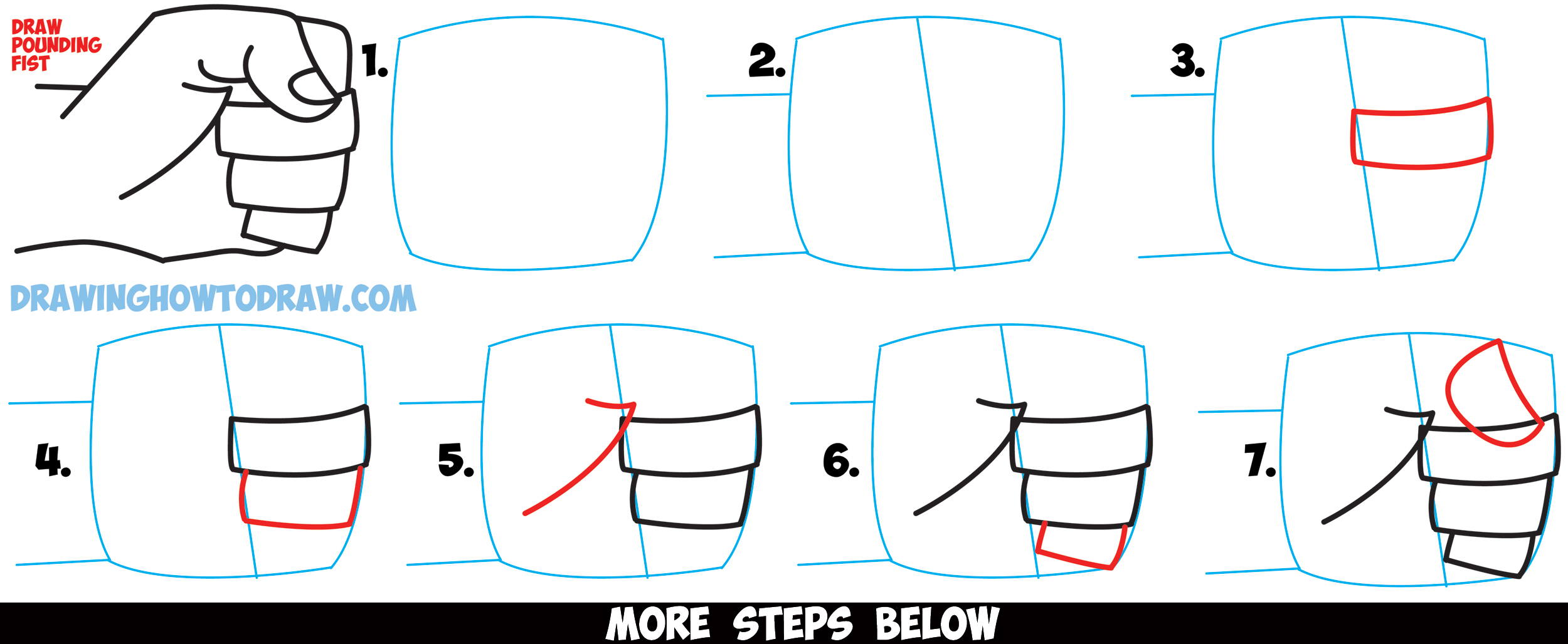 2500x1028 Drawing Of A Fist How To Draw Fists Side View Clenched Drawing