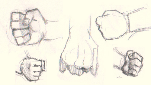 500x281 How To Draw Fist Hand 5 Different Ways