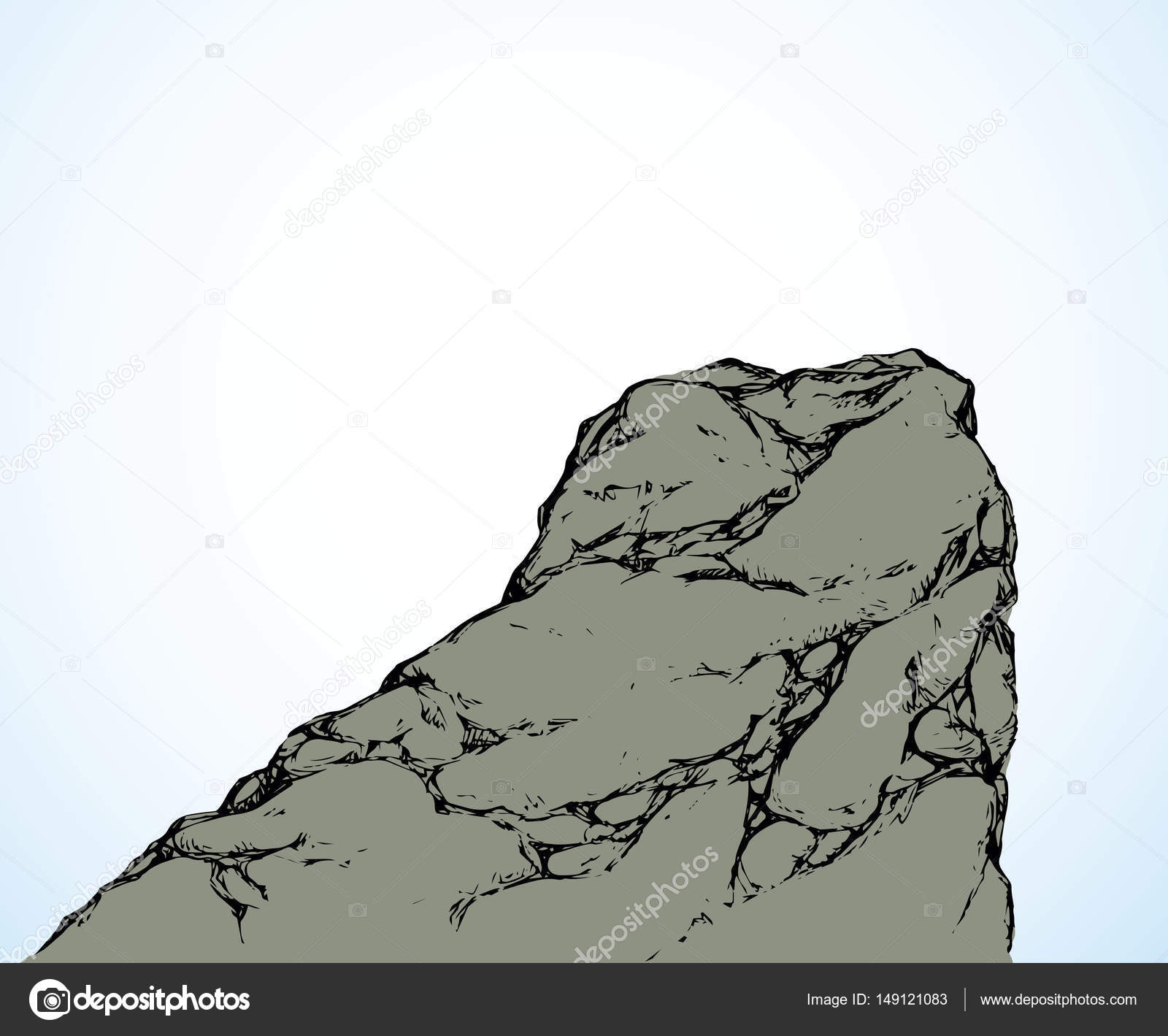 1600x1419 Cliff. Vector Drawing Stock Vector Marinka
