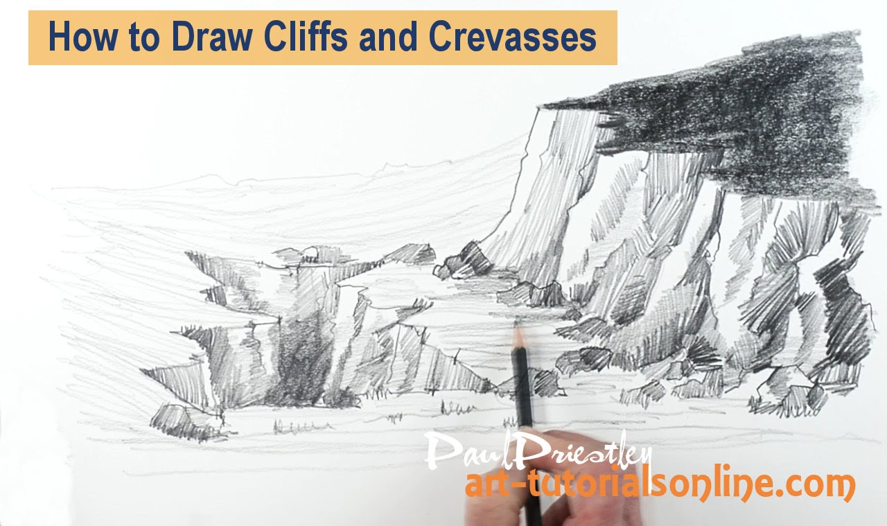 1280x759 How To Draw Cliffs And Crevasses