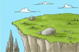 300x200 How To Draw A Cliff