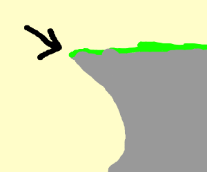 300x250 Cliff Edge (Drawing By Knoffel)