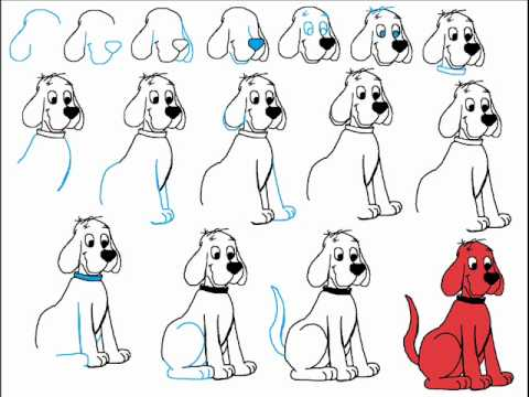 480x360 How To Draw Clifford The Big Red Dog Step By Step Drawing Tutorial