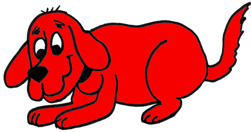 500x263 How To Draw Clifford The Big Red Dog With Step By Step Drawing