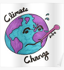 210x230 Climate Change Drawing Posters Redbubble