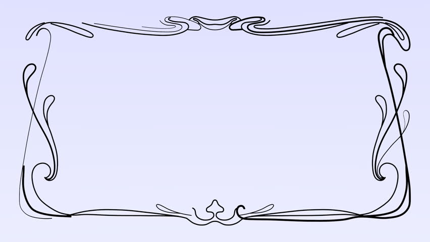 852x480 Retro Drawing Frame Animation. Ideal For Your Text And Messages