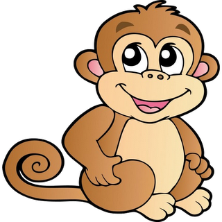 320x320 Cute Cartoon Monkeys Monkeys Cartoon Clip Art Cartoon Images