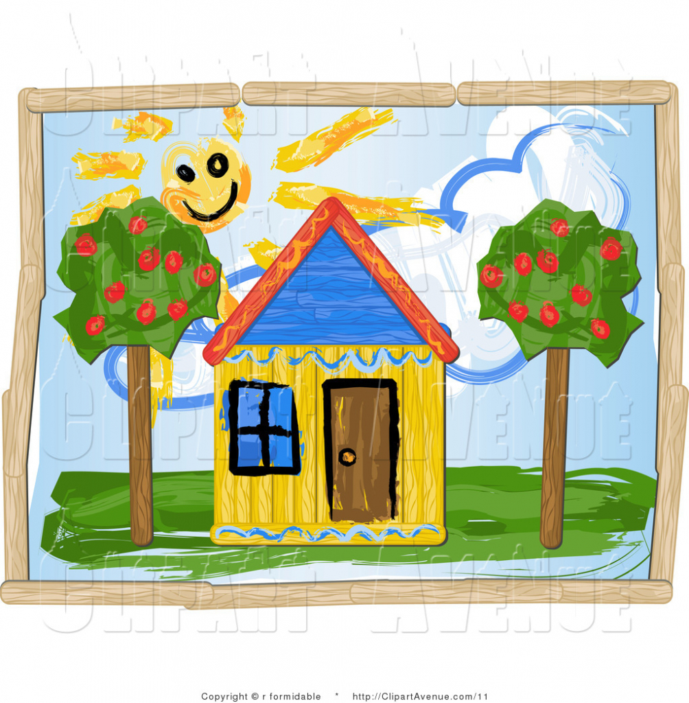 1004x1024 Dream House Drawing For Children House Drawing Clipart