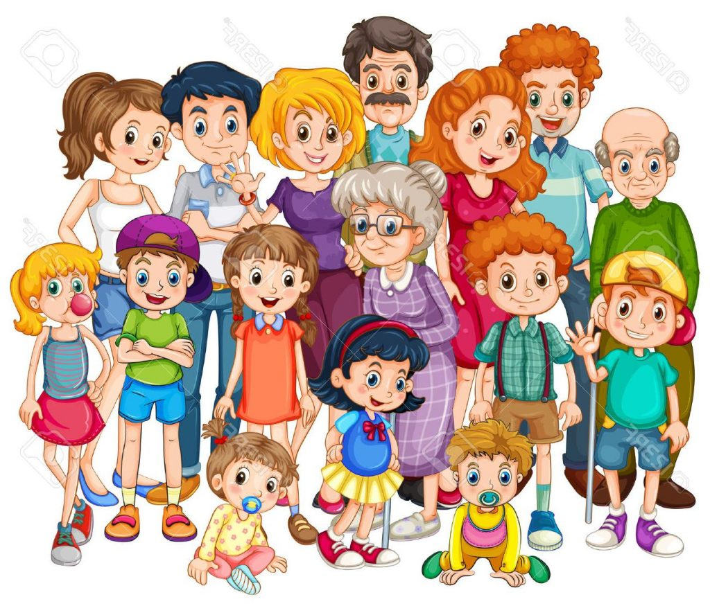 1024x875 Hd Family Get Together Clipart Drawing
