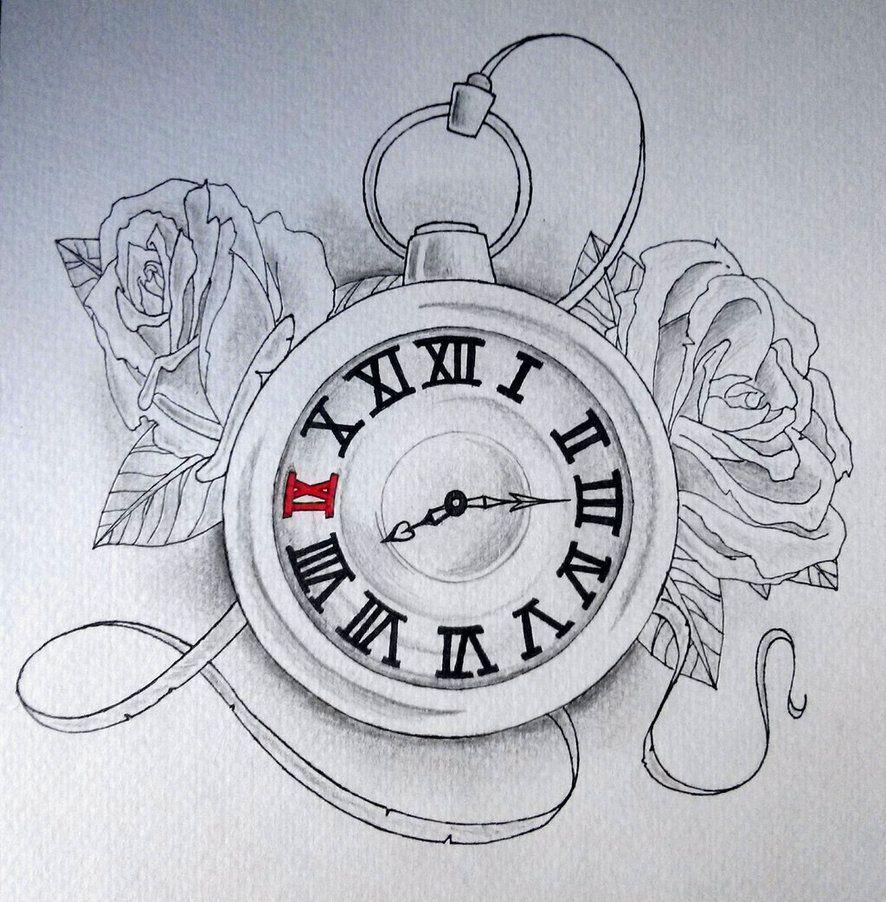 886x902 Clock Drawing