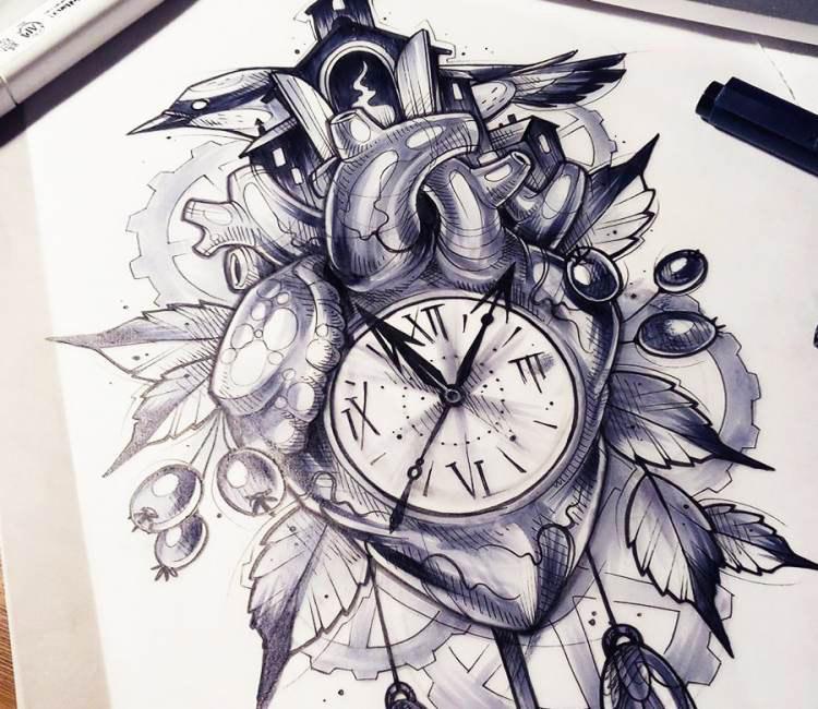 750x650 O Clock Drawing By Kati Berinkey Post 17231
