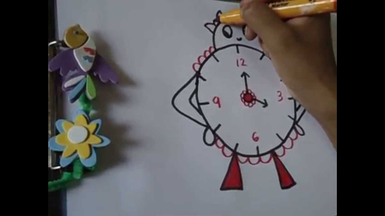 1280x720 Drawing For Kids,,easy And Funny Clock Drawing In Simple Steps