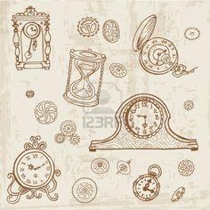 236x236 Clockwork Gears Drawing