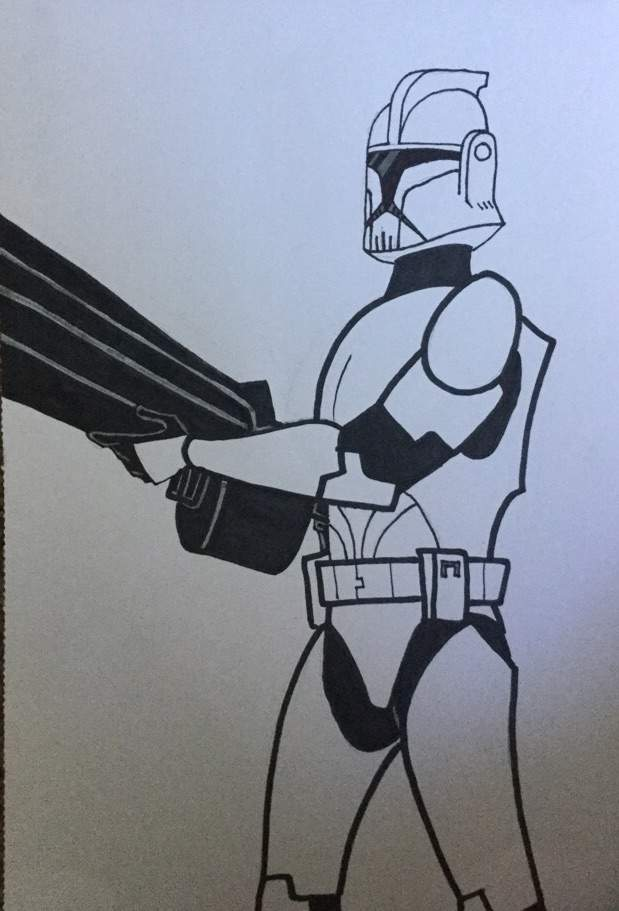619x911 Clone Trooper Drawing (Im Back) Star Wars Amino