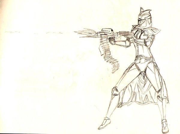 600x449 Clone Trooper Sketch By Freaky06