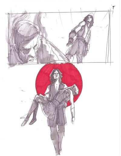 400x517 Dave Filoni Clone Wars Drawings. Vos And Ventress Sniff
