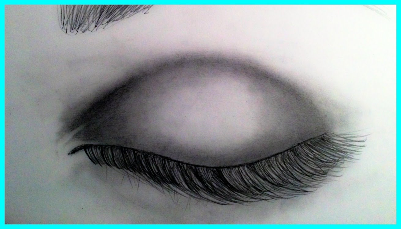 1310x750 how to draw a realistic eye closed