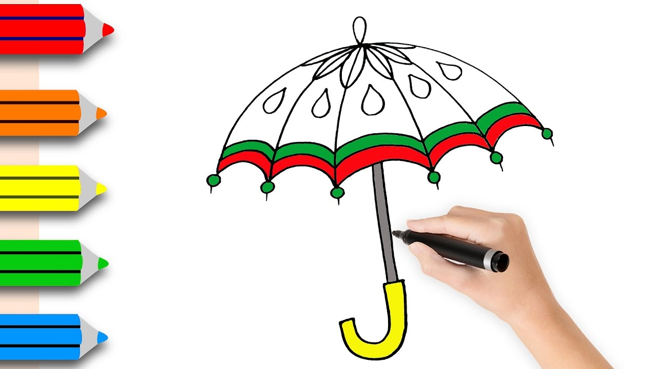 1280x720 Coloring Pages Umbrella